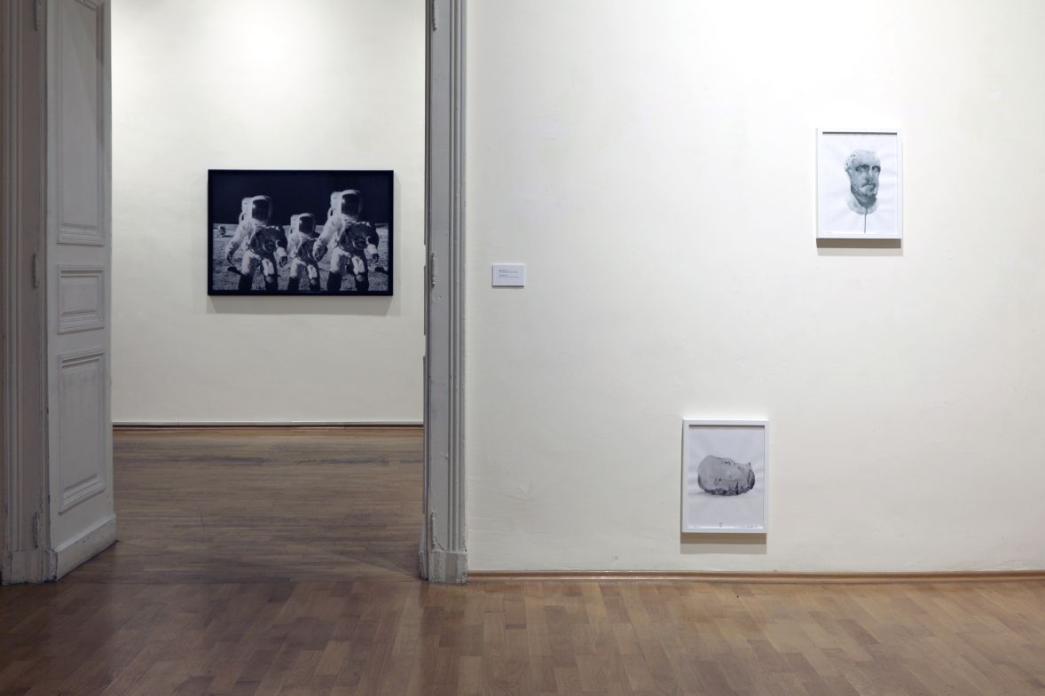 watercolour on paper, 42/32 cm each. Installation view: Krassimir Terziev:  Between the Past Which is about to Happen and the Future Which has Already Been, Aug 4 — Sept 5, 2015, National Gallery Sofia, curated by Iara Boubnova