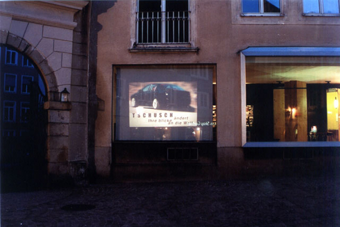 Other Adds (2002) installation view, Transpublic, Linz